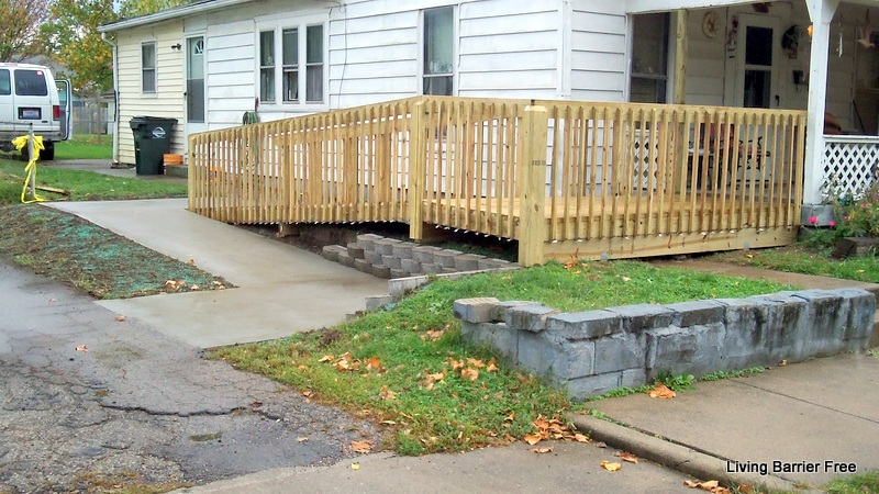 Ramp gallery wheelchair access ramps handicap ramp for Barrier free home plans
